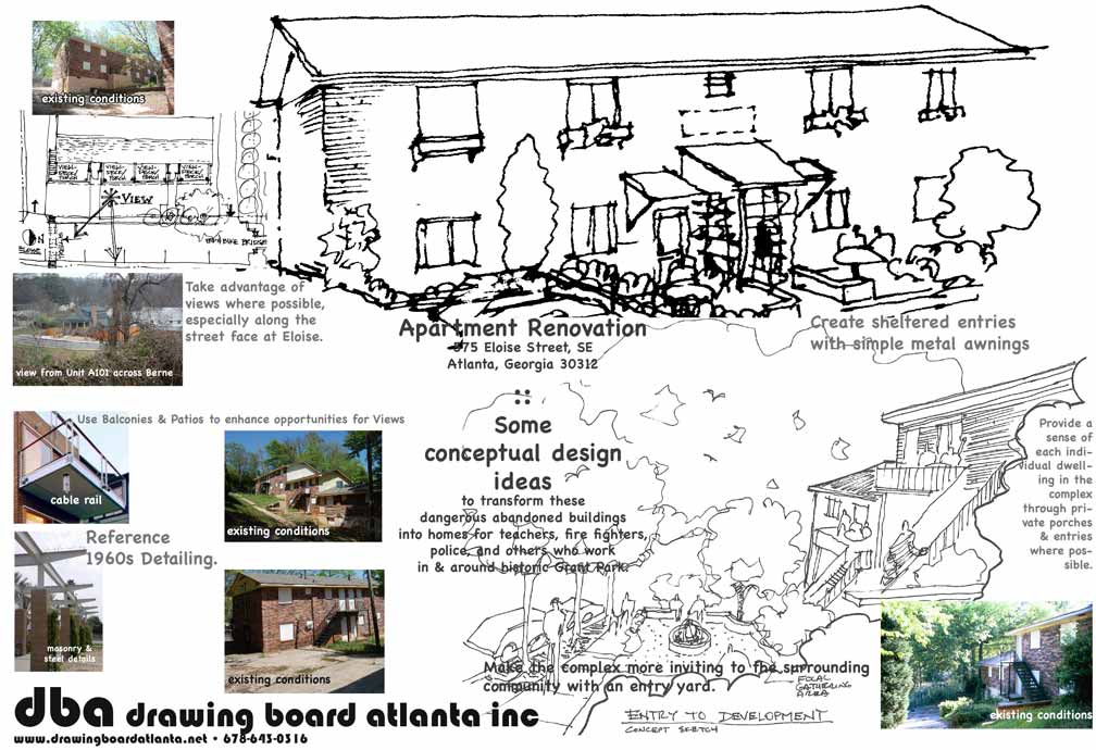 Drawing board atlanta inc apartment renovations for Apartment renovation plans